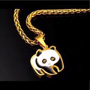 New golden plated Panda necklace